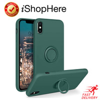 Casing Ring Holder Silicone Soft Case iPhone iPhone X XR XS Max