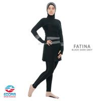 Baju Renang Muslimah Wanita Muslim Edora Fatina - black darkgrey, M