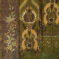 bahan sarimbit batik tulis sutra atbm hijau