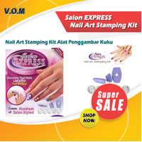 Salon EXPRESS Nail Art Stamping Kit Alat Penggambar Kuku 0606