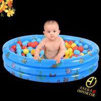 Kolam Renang Bayi Anak Bulat Mandi Bola Intime 3 Ring / Swimming Pool
