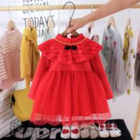 dress bayi tutu cheongsam red lace cantik