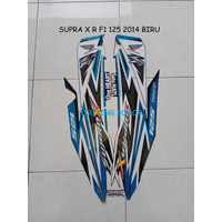 Striping Stiker Motor Honda Supra X R F1 125 2014 Biru