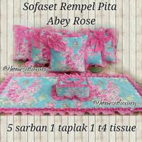 sarung bantal sofa shabby sarban tamu rempel abey rose