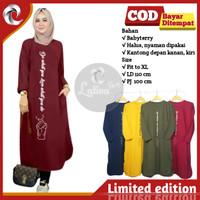 Baju Tunik Atasan Muslim Wanita Lengan Panjang Sarangheo Terbaru