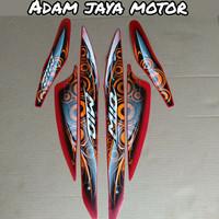 STRIPING STICKER LIST BODY MOTOR MIO SPORTY/SMILE 2012 WARNA MERAH