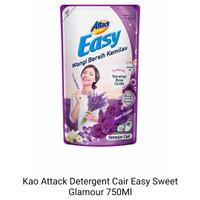 Kao attack easy deterjen cair sweet glamour 750ml