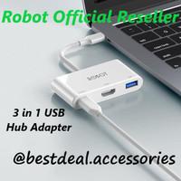 Robot HT430 3in1 USB-C Hub Adapter spt Apple USB-C Digital AV Adapter