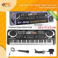 Keyboard Piano Digital Organ Electronic Bonus Microphone Mainan Anak