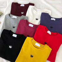Crown - Tshirt wanita mahkota - Baju kaos oblong cewek T-shirt