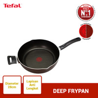 Tefal Day by Day Deep Frypan 28cm - Panci Wajan Penggorengan