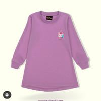 Tshirt anak perempuan MasiMada Kids Lavender Unicorn Long - 1 tahun
