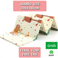 Playmat Jumbo 200x180cm Tikar Matras Lipat Alas Main Bayi Anak R48