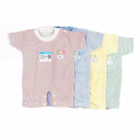 MIYO Baju Kodok Segiempat Bayi Newborn 0-3 Bulan Salur Romper Baby