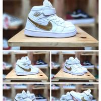 Sepatu Anak Nike Air Jordan 1 Kids High White Gold