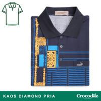 Crocodile DIAMOND 1666 Blue - Baju Kaos Kerah Pria Men Polo Original