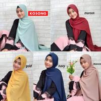 Hijab pashmina Bahan Wolfis Premium Kerudung Pasmina jumbo 200 x75 cm