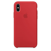 Casing Official Apple Silicone Case iPhone XS - Red - ORIGINAL