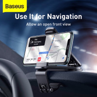baseus mouth car mount hp phone holder mobil dashboard speedometer