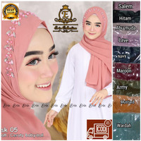 Hijab Pashmina Tali Instant Pasmina Ceruty payet Bando Mutiara Murah