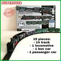 Mainan Kereta Api Panjang Train Rel Lokomotif Track Klasik Classic