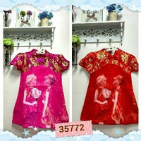 Dress Chinese imlek FROZEN CHEONGSAM