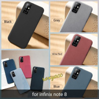 softcase infinix note 8 case anti slip superthin silicon sandstone