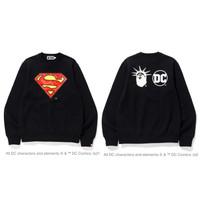 Bape x DC Madison Avenue Superman Camo Crewneck