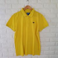 kaos kerah polo shirt adidas bunga original import second hype