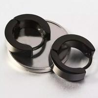 Anting Lingkar Tindik Stainless Steel Black ORIGINAL