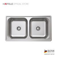 Hafele Stainless Sink Double Bowl - Washtafel / Bak Cuci Piring