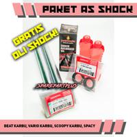 (COD) PAKET AS SHOCK Beat Karbu,Vario Karbu, GRATIS OLI SHOCK !