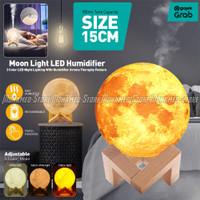 15CM Moon 3D 1.5L Humidifier Diffuser Lampu Tidur Bulan Aroma Terapi
