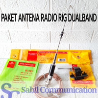 PAKET ANTENA MOBIL DUALBAND ANTENA RADIO MINI CR77 CR-77 BRACKET KABEL