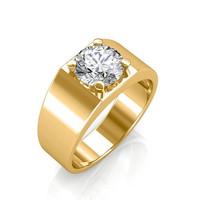 1901 Jewelry Cincin Pria Berlian Swarovski Lapis Emas