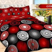 Bedcover Bonita Lengkap Sprei Rumbai Size King 180 x 200 Motif Citra