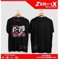 Kaos T-shirt Baju Motor Honda Classic C70 Keren Kualitas Distro