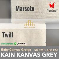 Kanvas Greige 50 cm x 160 cm - Baby Canvas Grey - Supplier Kain Kanvas