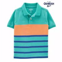 Oshkosh Tosca Orange Stripe Polo Shirt Kaos Kerah Anak Laki 4 5 6 8 T