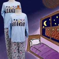 Baju Tidur Anak Perempuan GS (Forever Mickey) St. Lgn Pjg Cln Pjg - 8