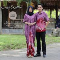 baju couple batik sarimbit kaftan dress semi sutera LB 2915