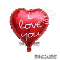Balon Foil Hati I Love You / Balon Foil Love Motif I Love You
