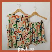 Setelan Baju Wanita POELASZ Rayon Premium/tanpa lengan-Ravenna