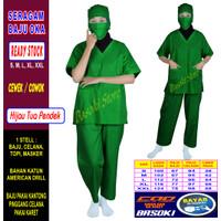 Baju Oka / Baju Perawat , Lengan Pendek, Pria & Wanita READY 22 warna
