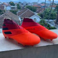 Sepatu Bola Adidas Nemeziz 19+ Orange Black FG
