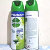 DETTOL Morning Dew Disinfectan Spray 450ml - Disinfektan 450 ml Hijau