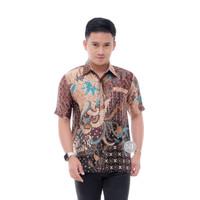Baju Batik Pria Semi Sutra Lengan Pendek Terbaru Baju Batik Kantor
