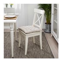 IKEA VIPPART Bantal kursi, alas duduk sofa empuk, abu-abu,krem 38x38cm