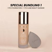PAKET BUNDLING 1 Lumecolors Foundation + Beauty Blender 100%Original