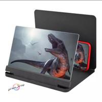 Kaca Pembesar Layar Handphone F4 3D HD Stand Proyektor Hp F4